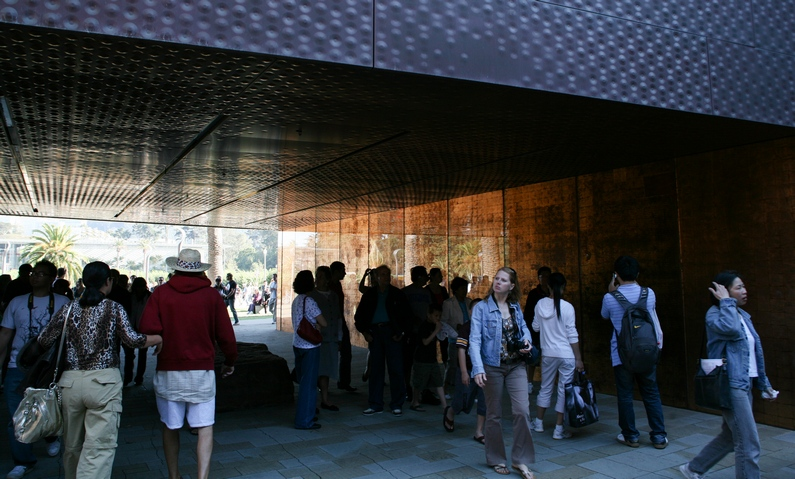 Inside the de Young entrance