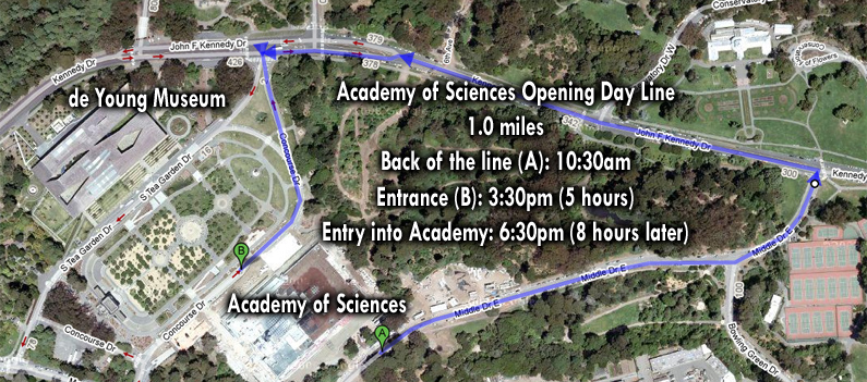 Map of the Academy of Sciences Opening Day line