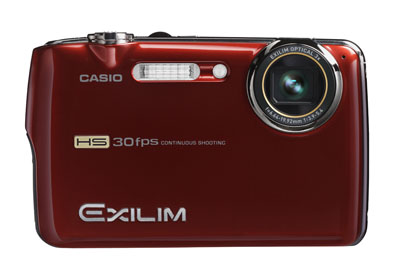 Casio's compact FS10 records 6MP at 30fps, with a maximum reduced-resolution speed of 1000fps