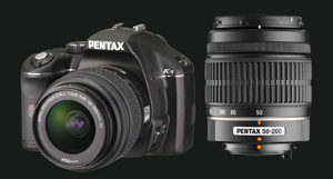 Pentax K-x with 18-55 and 50-200 lens